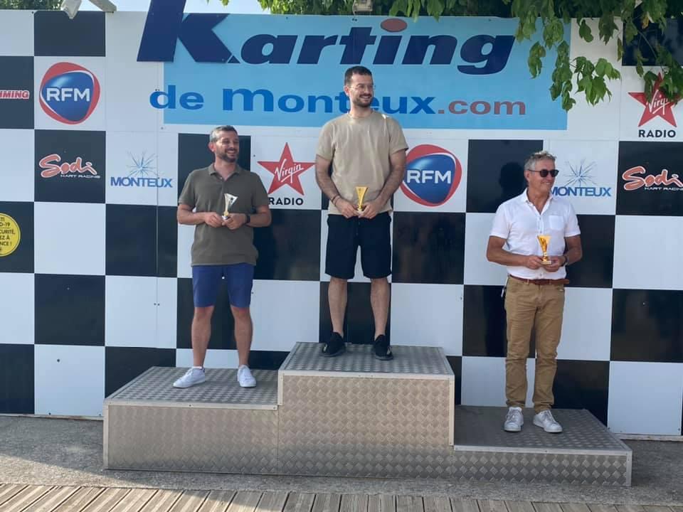 Podium karting groupe 1 ARG Solutions